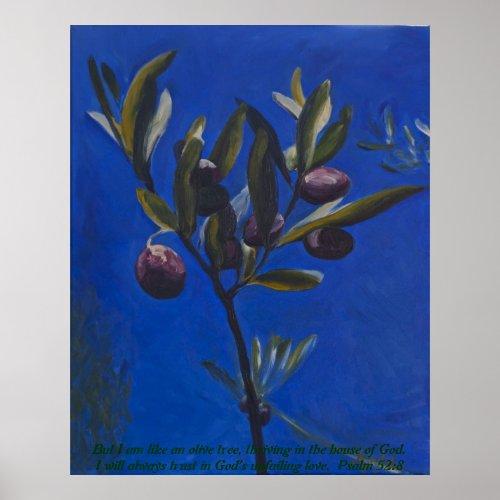 But I am like an olive tree... print