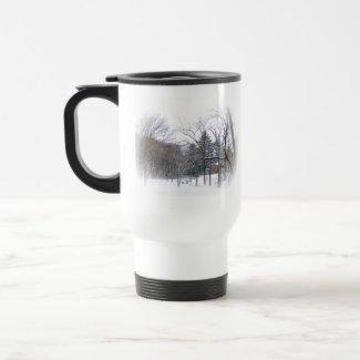 Butler Mansion In The Snow mug