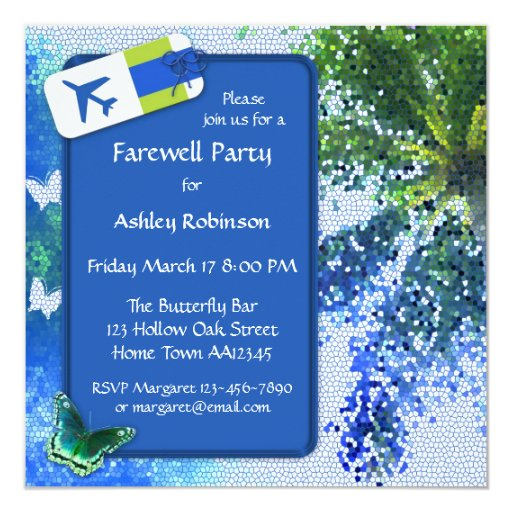 butterfly farewell or retirement party invitation  zazzle