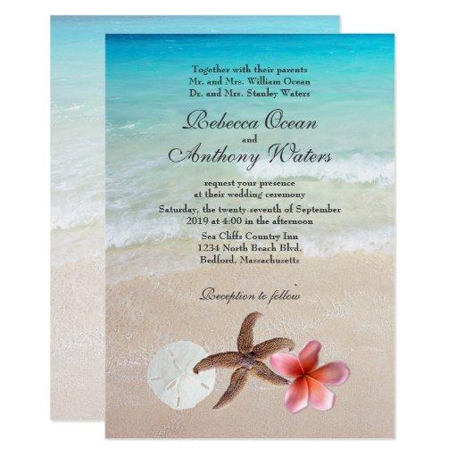 Destination Wedding Invitations When To Send: By The Sea Tropical Destination Wedding Invites