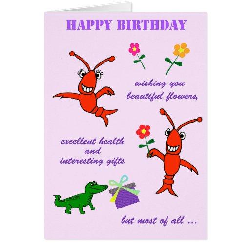 Cajun Crawfish Happy Birthday Cards