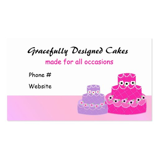 Cake Decorating Company Business Card Template