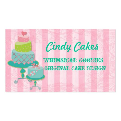 Cake Decorating Business Card Templates