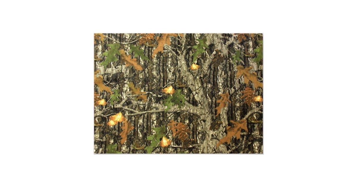 Camouflage Wedding Invitation Kits: Camo And Orange Sunflower Wedding Invitation
