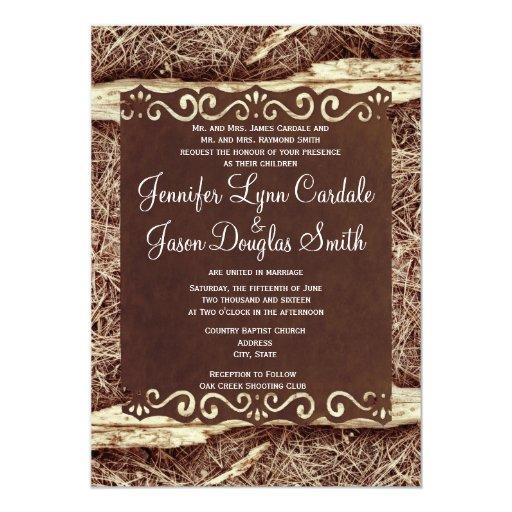 Camo Wedding Invitations To Make: Camo Hunting Vintage Paper Wedding Invitation