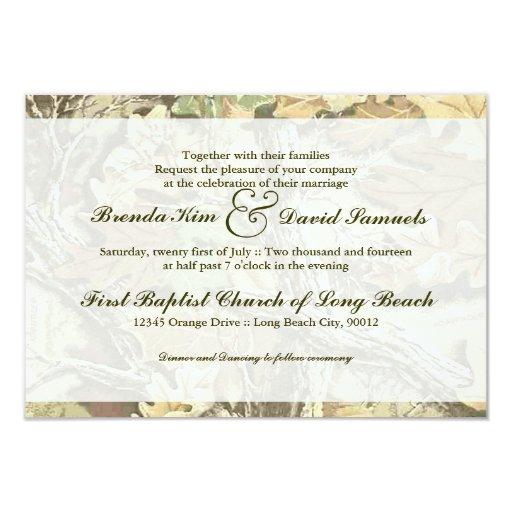 Camo Wedding Invitations To Make: Camo Wedding Invitation