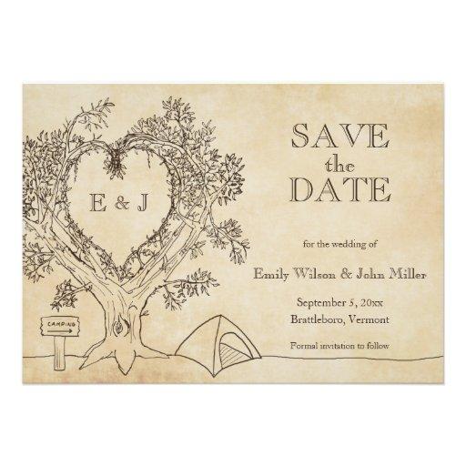 Save The Date Wedding Invitation Ornaments Save The Date: Camping Wedding Save The Date Announcements