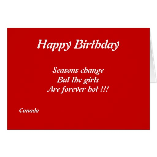 Canadian Girls Birthday Greeting Cards