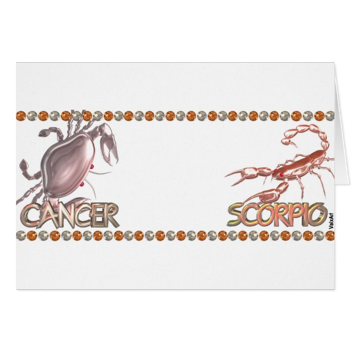 Cancer Scorpio zodiac friendship by Valxart Greeting Cards on PopScreen