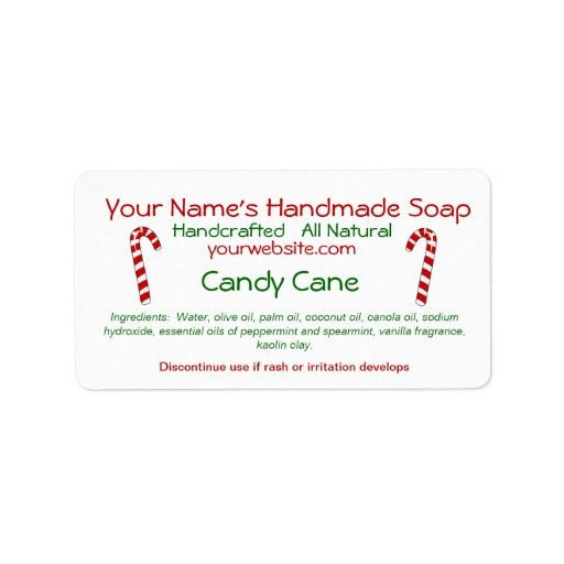 Candy Cane Grams Template