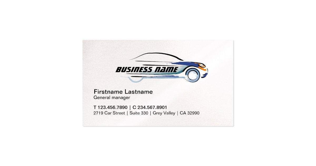 car rental repair profile business card template zazzle. Black Bedroom Furniture Sets. Home Design Ideas