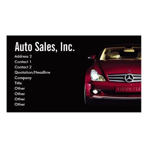 Automotive Business Card Templates - Page6   BizCardStudio  Car Sales Business Cards