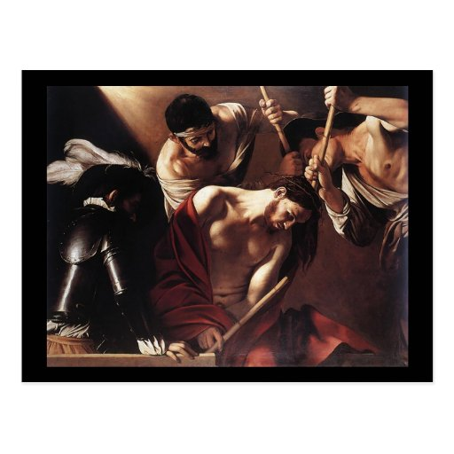 Caravaggio The Crowning With Thorns Postcard | Zazzle