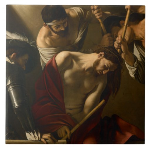Caravaggio - The Crowning with Thorns Tile | Zazzle