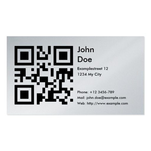 how to write a website address on a business card