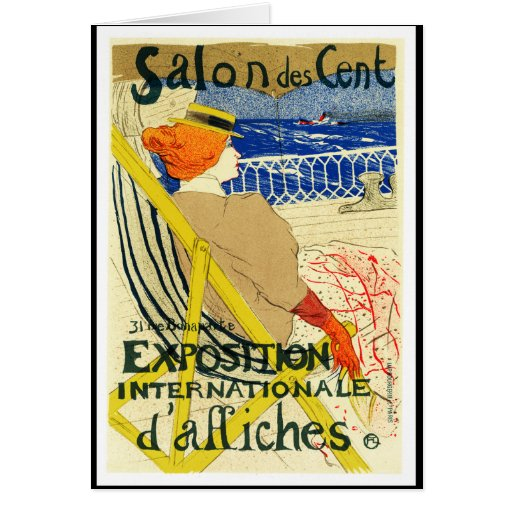 card toulouse lautrec salon des cent card zazzle. Black Bedroom Furniture Sets. Home Design Ideas