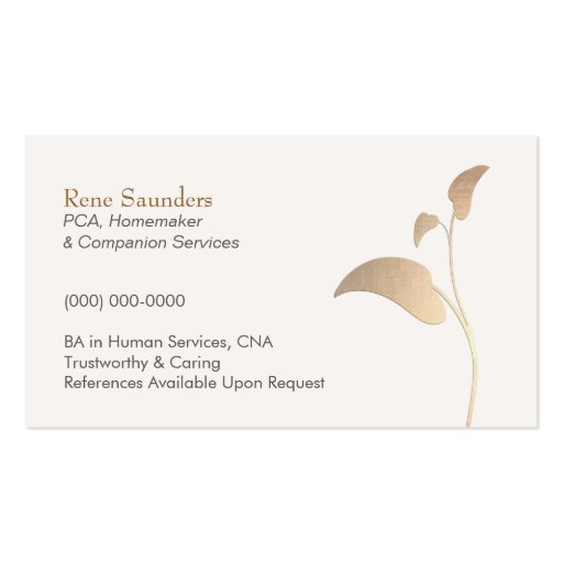 Home Health Care Business Card Templates Page2 Bizcardstudio