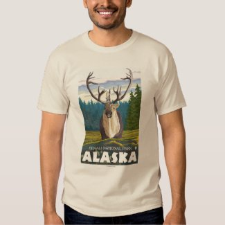 Caribou in the Wild - Denali National Park, Tee Shirts