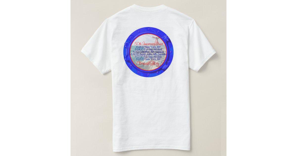 Carnival Glory 50th Anniversary Cruise T Shirt Zazzle