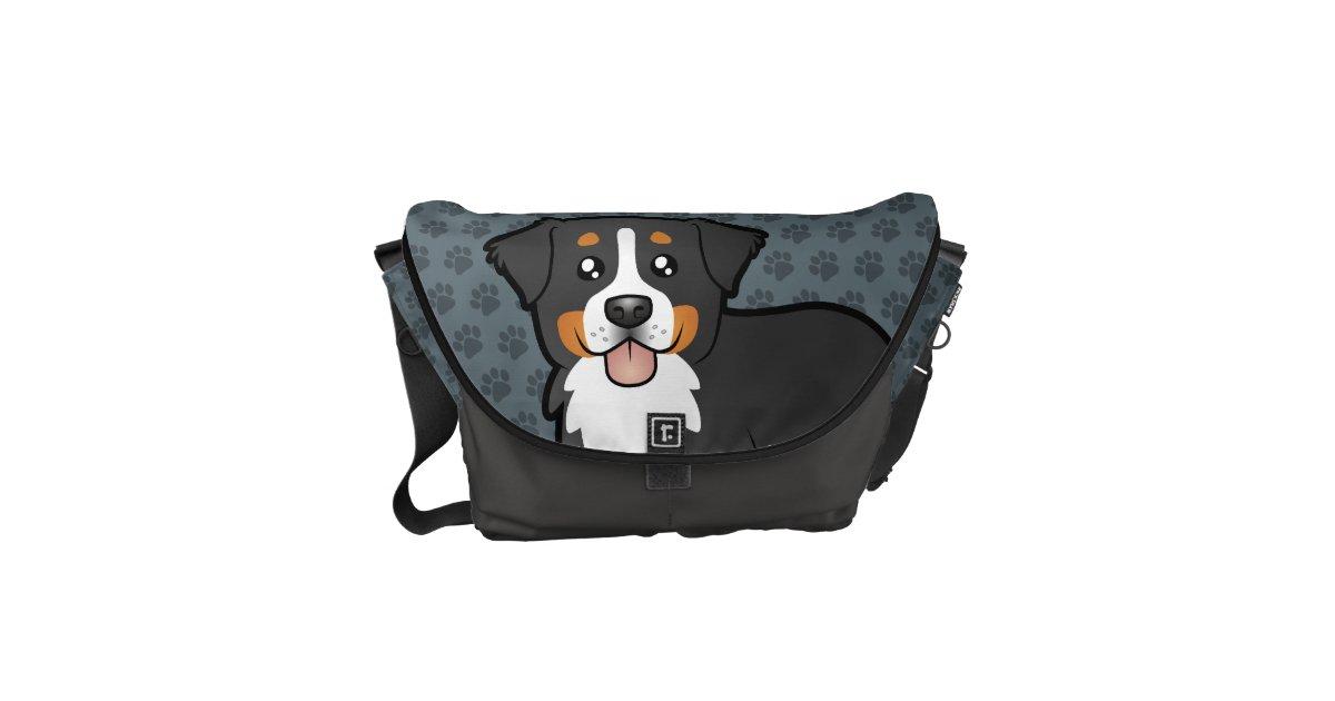 Cartoon Bernese Mountain Dog Messenger Bag Zazzle