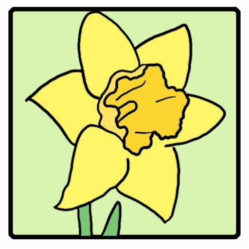 Cartoon Clip Art Daffodil Spring Garden Flower Photo ...
