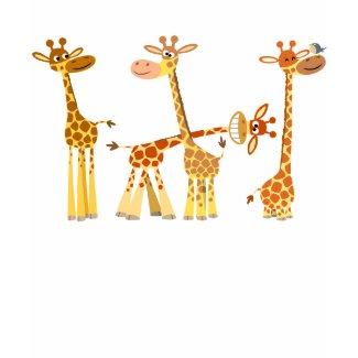 Cartoon Giraffes: The Herd Women T-shirt shirt