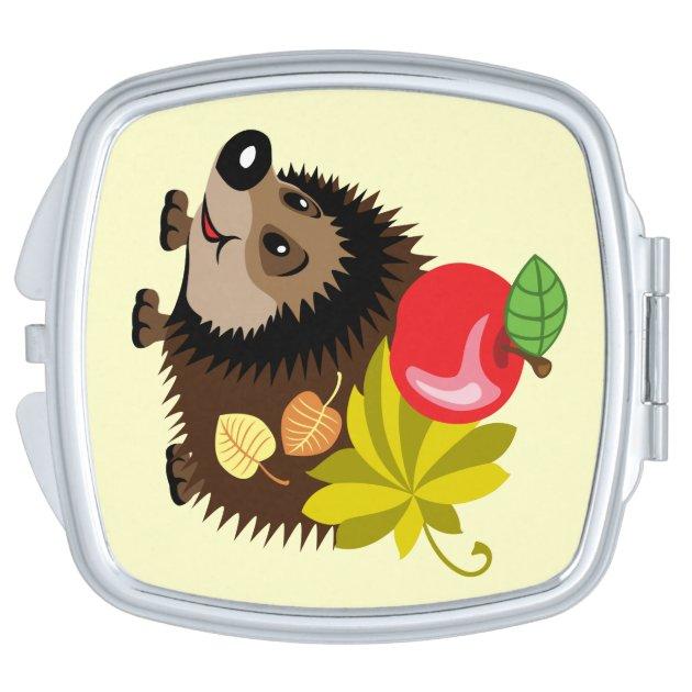 Cartoon Hedgehog Makeup Mirror