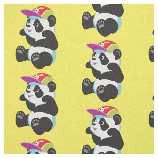 Cartoon Panda Fabric Zazzle