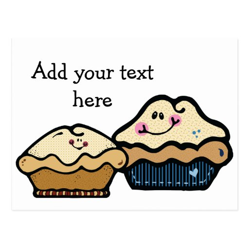 Cartoon Pies for Pie Day January 23rd Postcard | Zazzle