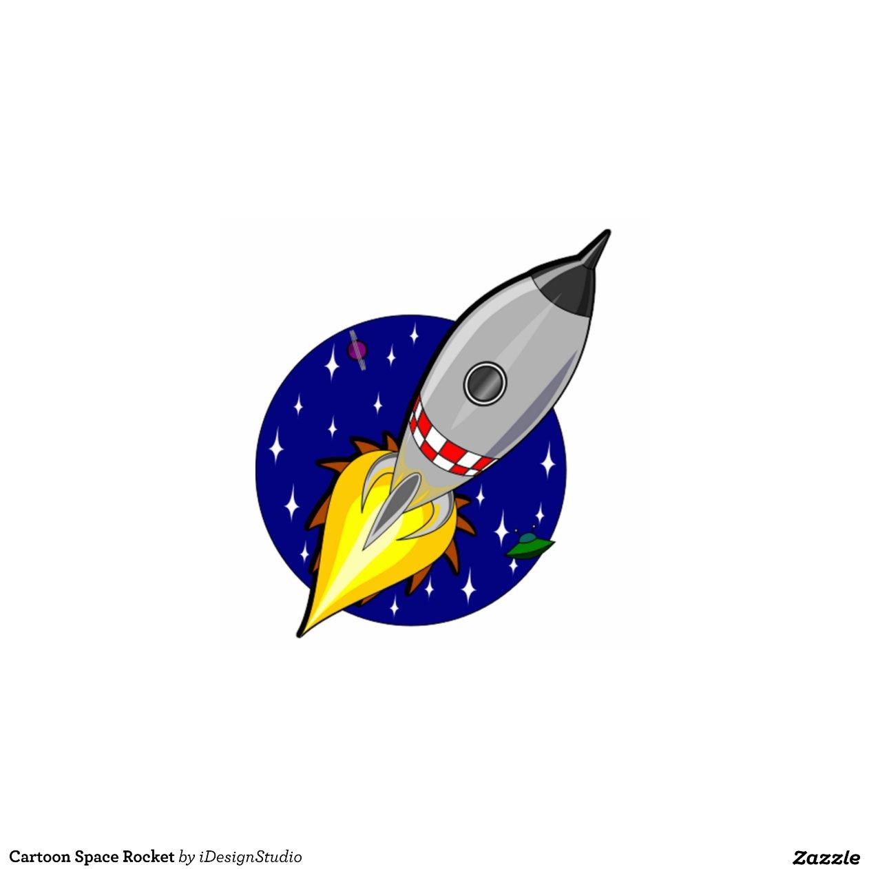 Cartoon Space Rocket Cut Out