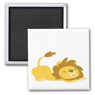 Cartoon Stretching Lion magnet magnet