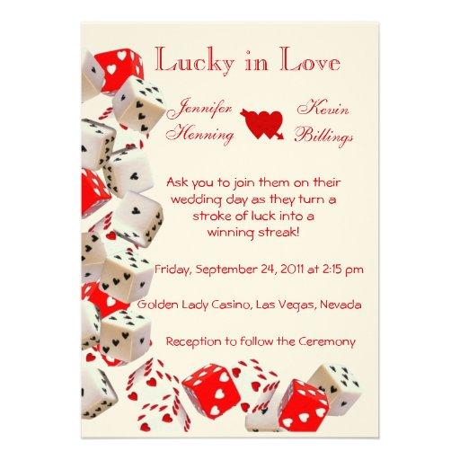 Las Vegas Wedding Invitation Wording: Casino Las Vegas Wedding Invitation Announcement
