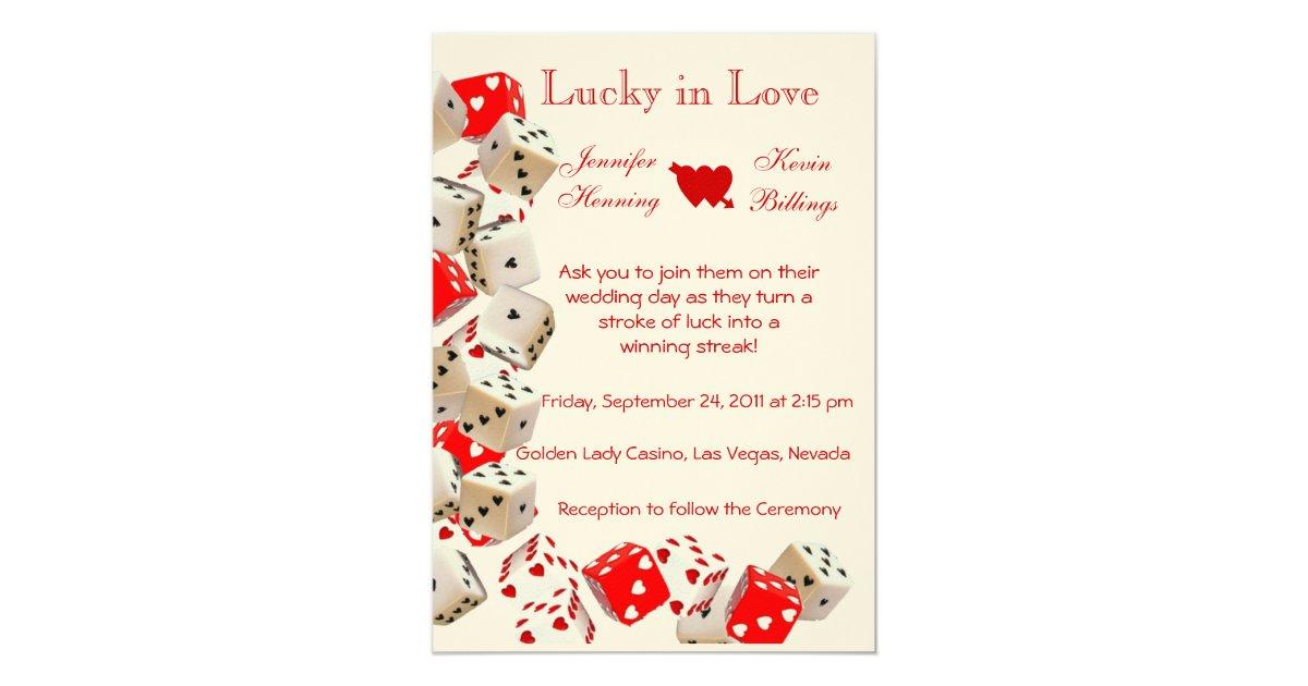Vegas Wedding Invitation: Casino Las Vegas Wedding Invitation Announcement