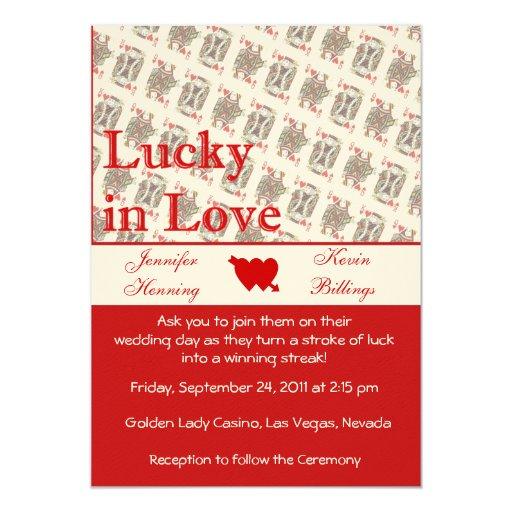 Casino Wedding Invitations: Casino Las Vegas Wedding Invitation Announcement