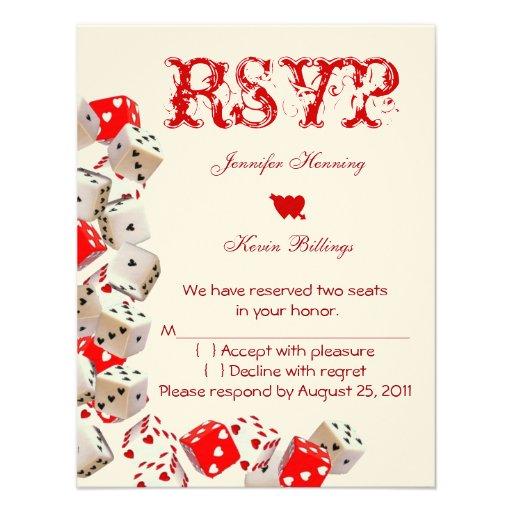 Casino Wedding Invitations: Casino Las Vegas Wedding RSVP Personalized Announcements