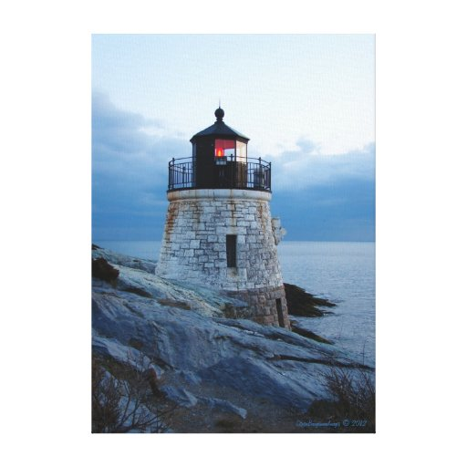 Castle Hill Lighthouse- Newport, RI Canvas Print