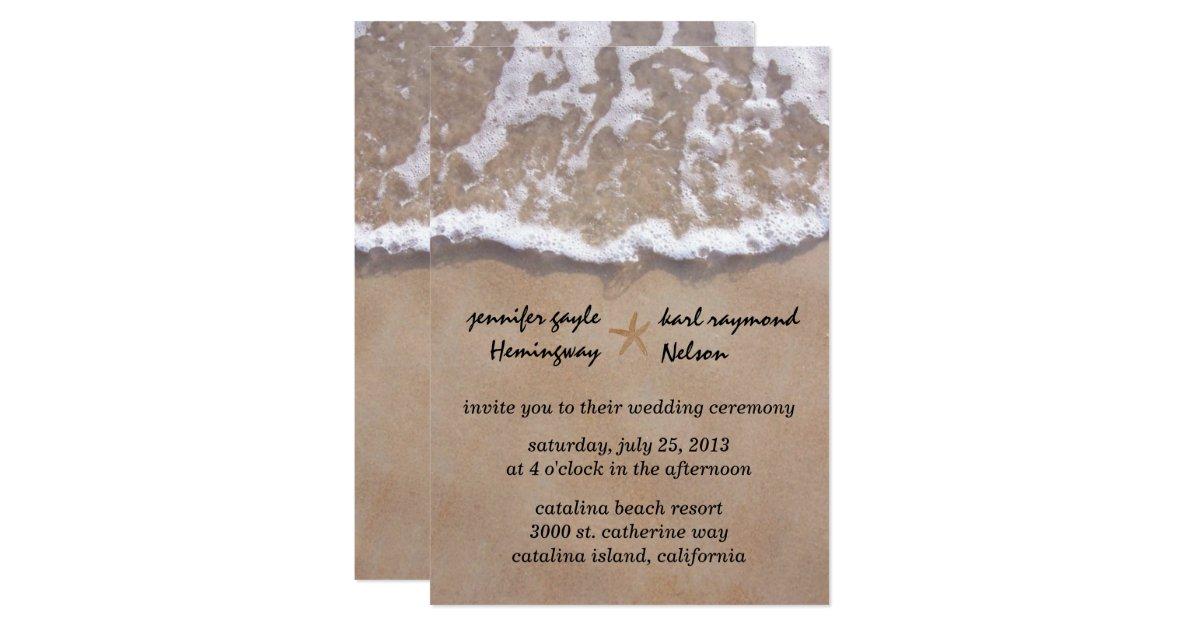 Beach Theme Wedding Invitation: Casual Beach Theme Wedding Invitation