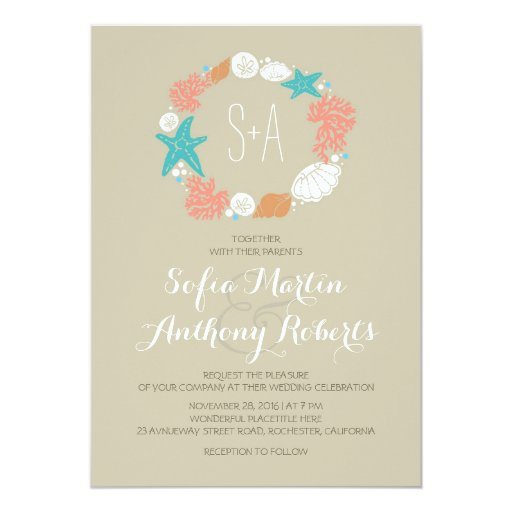 Casual Beach Wedding Invitations