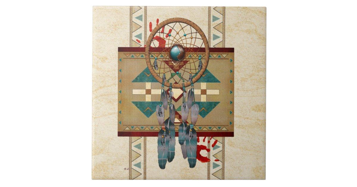Catching Spirit Native American Ceramic Tile Zazzle