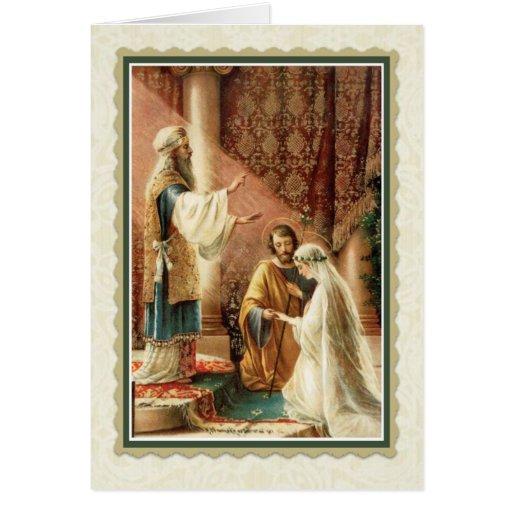 Catholic Wedding Gift: Catholic Wedding Card W/scripture Verse