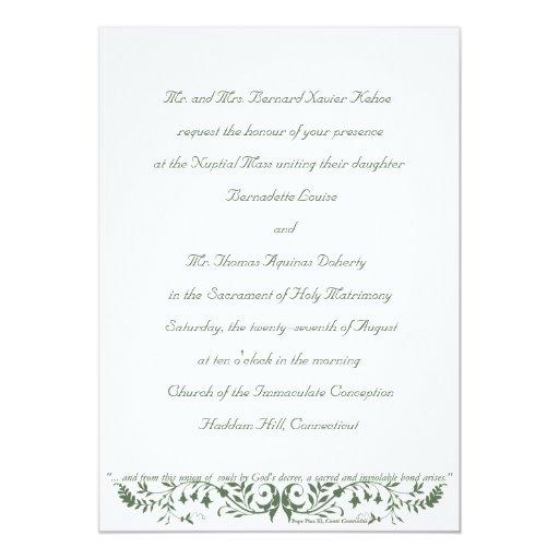 Catholic Wedding Invitations: Catholic Wedding Set Invitation Template CC
