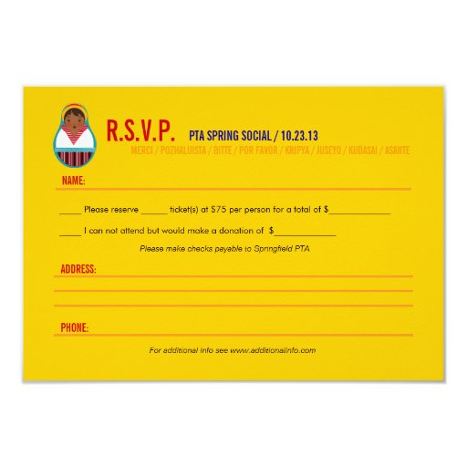 Celebrate culture diversity event rsvp paper for Rsvp template for event