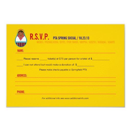 rsvp template for event - celebrate culture diversity event rsvp paper