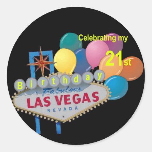 Celebrating My 21 St Birthday Las Vegas Sticker