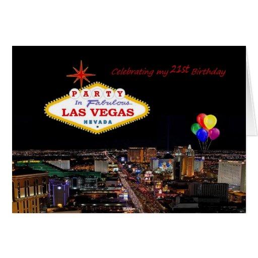 Celebrating My 21st Birthday Party Las Vegas Card