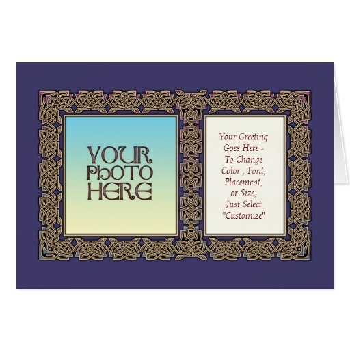 celtic art border photo frame greeting card  zazzle