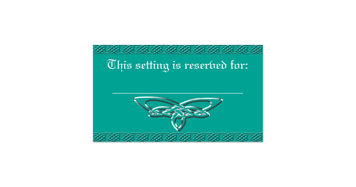 table reservation card template - celtic cross wedding table reservation card zazzle
