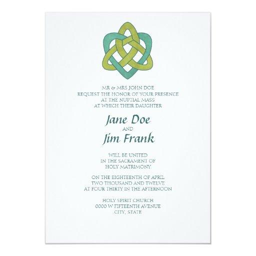 Catholic Wedding Invitations: Celtic Formal Catholic Wedding Invitation