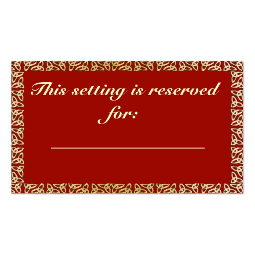 table reservation card template celtic heart wedding table reservation card double sided