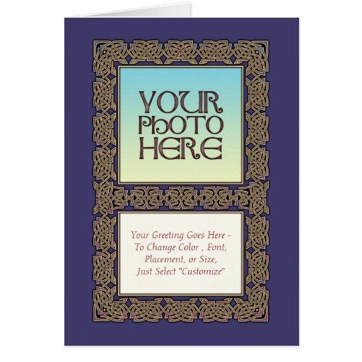 celtic knot border photo frame greeting card  zazzle